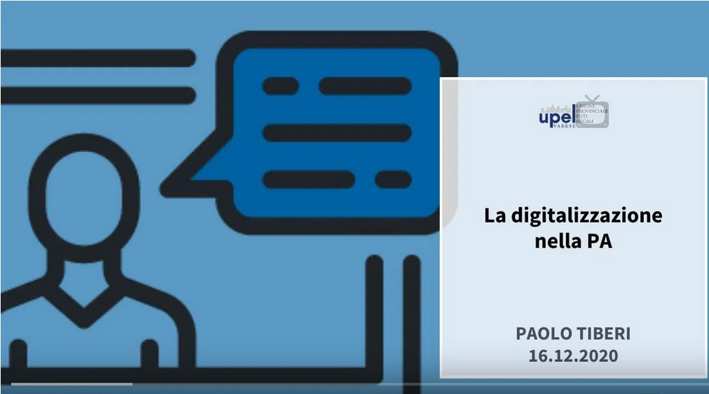 La digitalizzazione nella PA, guarda il video su TG UPEL